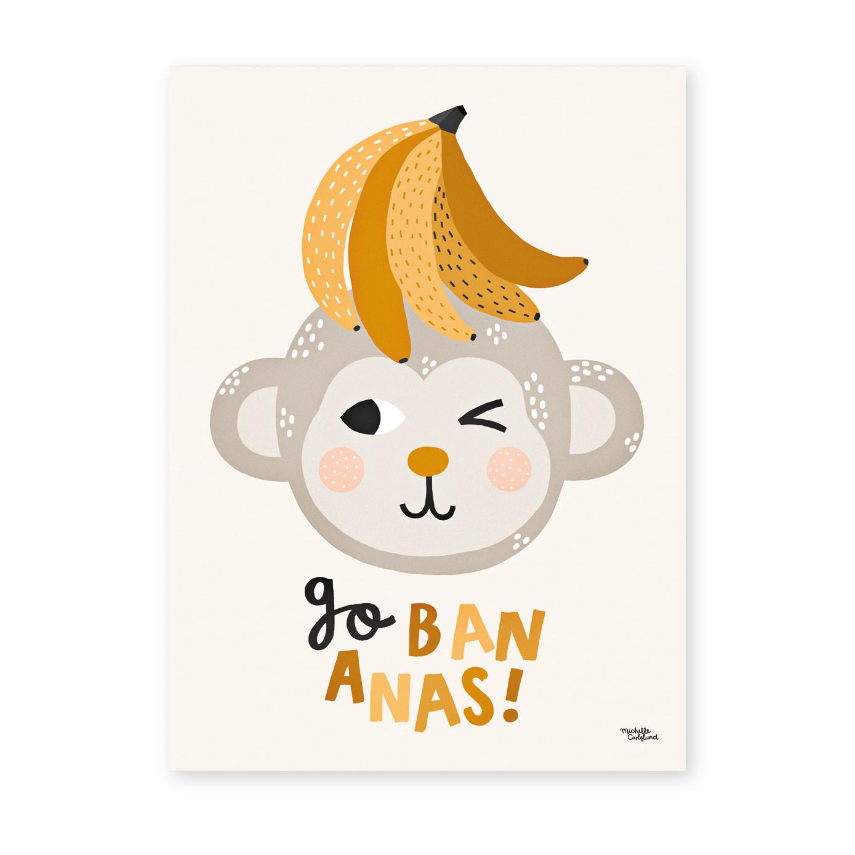 Michelle Carlslund Plakat 50 x 70 - Go Bananas