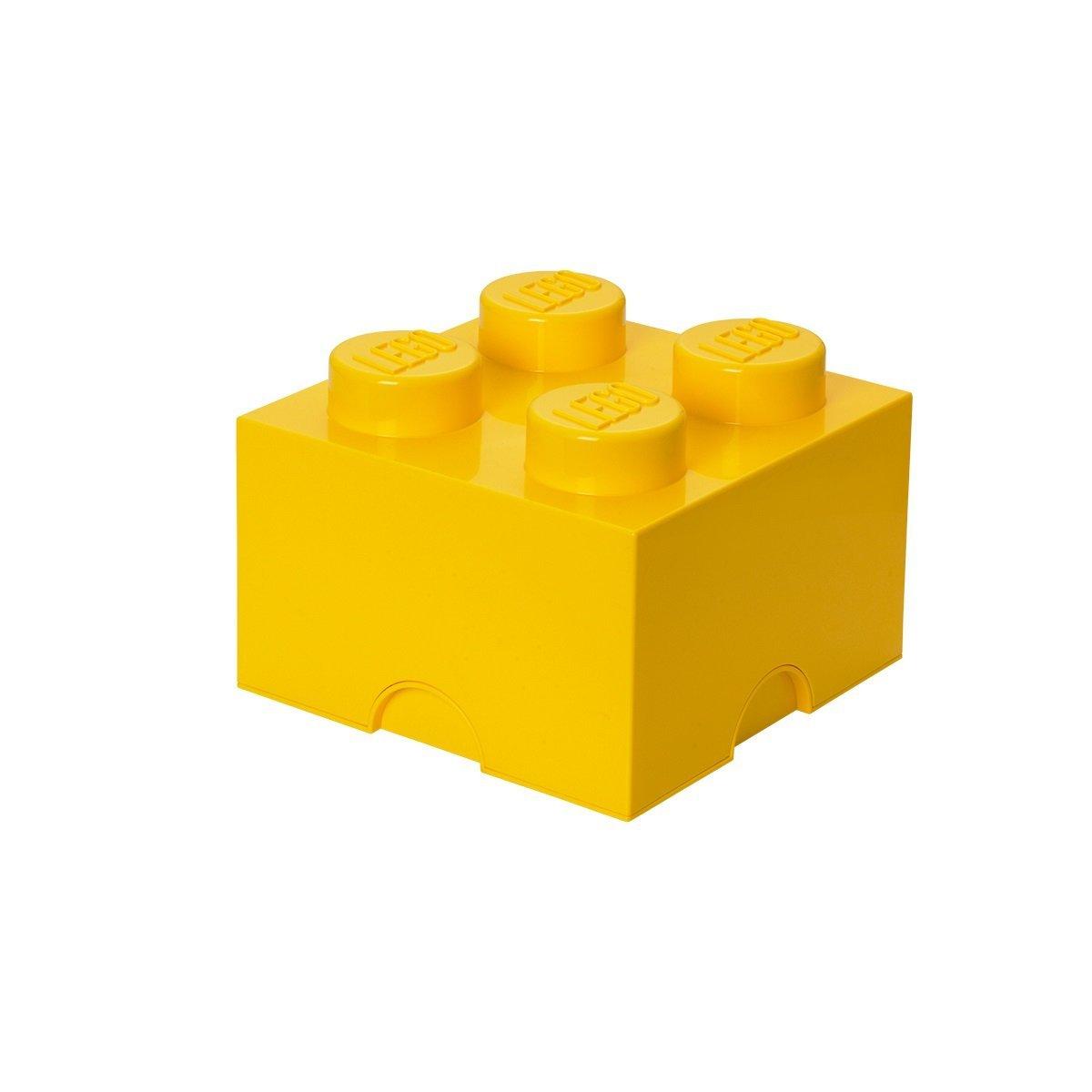 Lego Lego opbevaringskasse 4 - gul, +10 stk. på lager på pixizoo