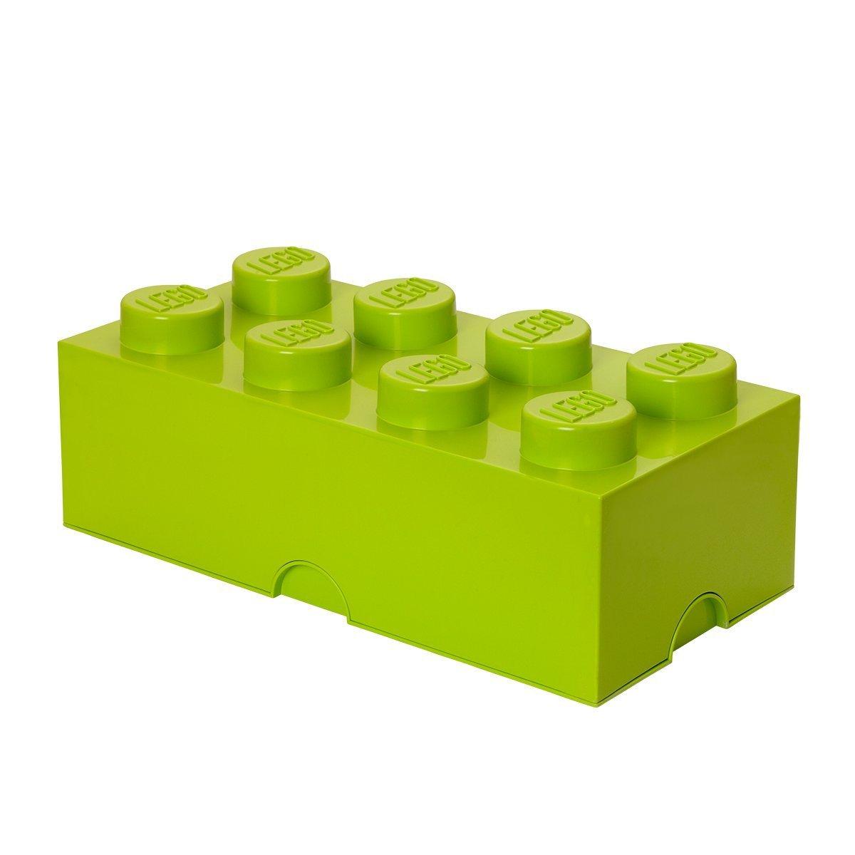 Lego opbevaringskasse 8 - limegrøn, +10 stk. på lager fra Lego fra pixizoo
