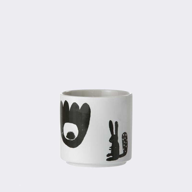 Ferm living landscape cup - grå , 4 stk. på lager fra Ferm living fra pixizoo