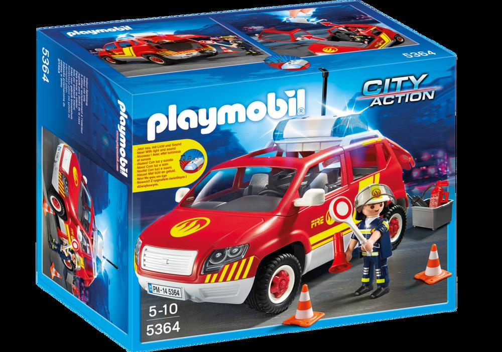 Playmobil City Action (5364) Brandchefens Bil med Ljud och Ljus