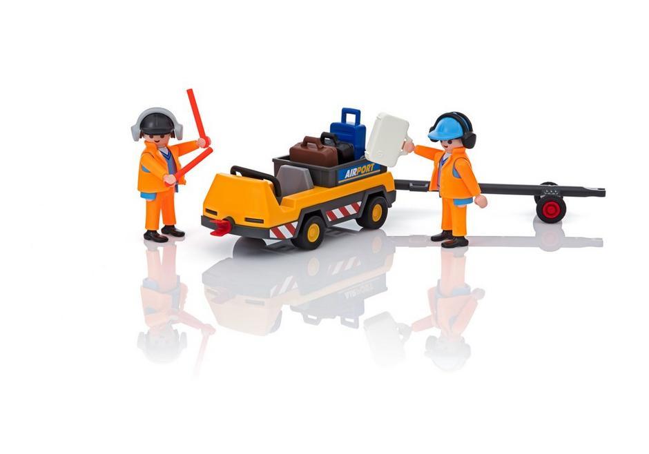 Playmobil City Action (5396) Flygplanstraktor med Markpersonal