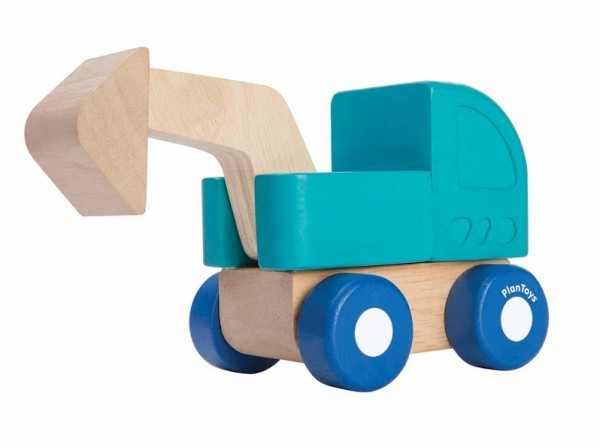 Plantoys Mini Grävmaskin - Blå