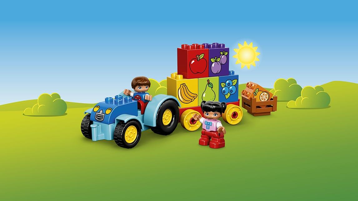 Lego duplo Lego duplo min første traktor, 2 stk. på lager på pixizoo