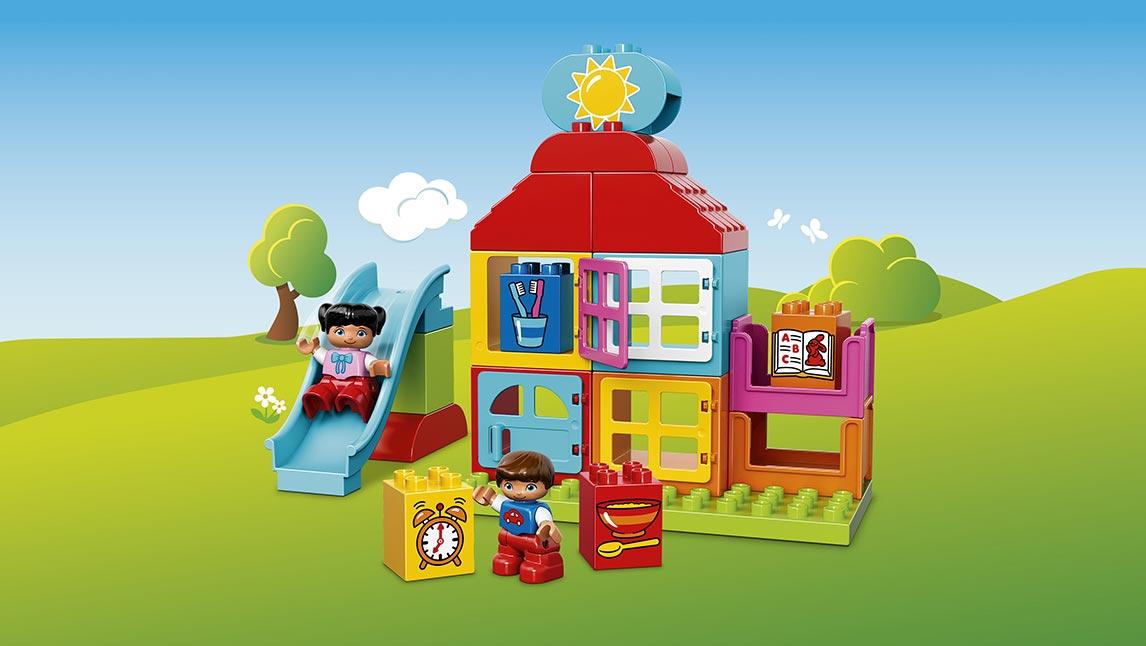 Lego duplo – Lego duplo mit første legehus , 4 stk. på lager fra pixizoo
