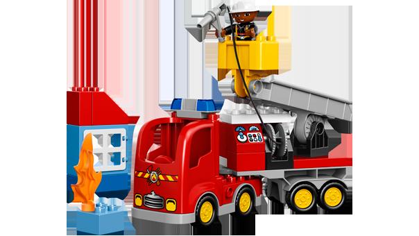Lego duplo Lego duplo brandbil, 2 stk. på lager fra pixizoo