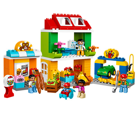 Lego duplo – Bytorvet - lego duplo, 5 stk. på lager på pixizoo