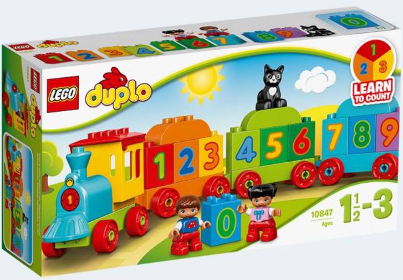 Tog med tal - lego duplo, 2 stk. på lager fra Lego duplo fra pixizoo