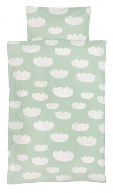 Ferm living cloud bedding - mint - junior sengetøj, 1 stk. på lager fra Ferm living fra pixizoo
