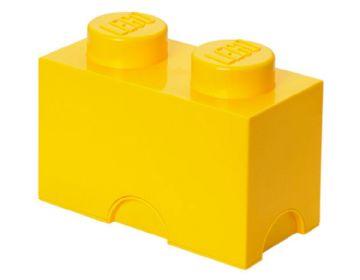 Lego opbevaringskasse 2 - gul, 9 stk. på lager fra Lego fra pixizoo
