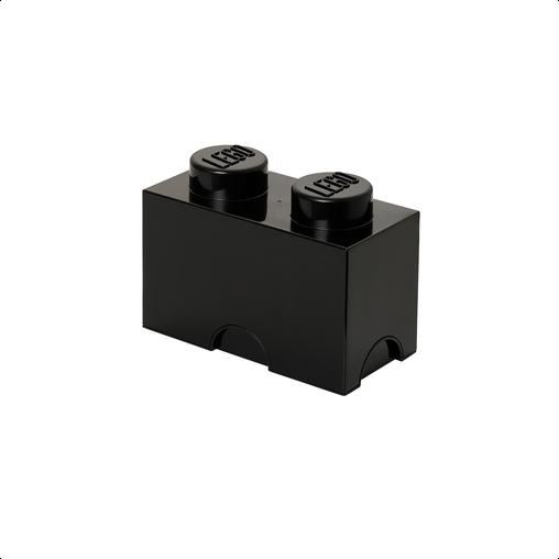 Lego – Lego opbevaringskasse 2 - sort, +10 stk. på lager fra pixizoo