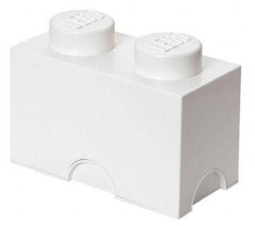 Lego – Lego opbevaringskasse 2 - hvid, +10 stk. på lager fra pixizoo