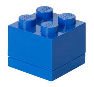 Lego – Lego mini box 4 - blue, +10 stk. på lager fra pixizoo