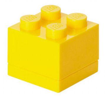 Lego – Lego mini box 4 - yellow , +10 stk. på lager på pixizoo