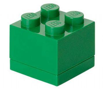 Lego Lego mini box 4 - dark green, +10 stk. på lager fra pixizoo