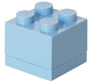 Lego Lego mini box 4 - light royal blue, +10 stk. på lager på pixizoo