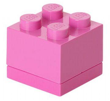 Lego mini box 4 - bright purple, +10 stk. på lager fra Lego på pixizoo