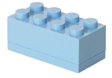 Lego – Lego mini box 8 - light royal blue, 6 stk. på lager fra pixizoo