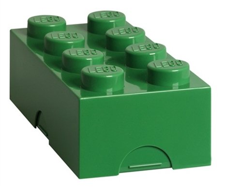 Lego classic 8 dark green madkasse, 8 stk. på lager fra Lego på pixizoo