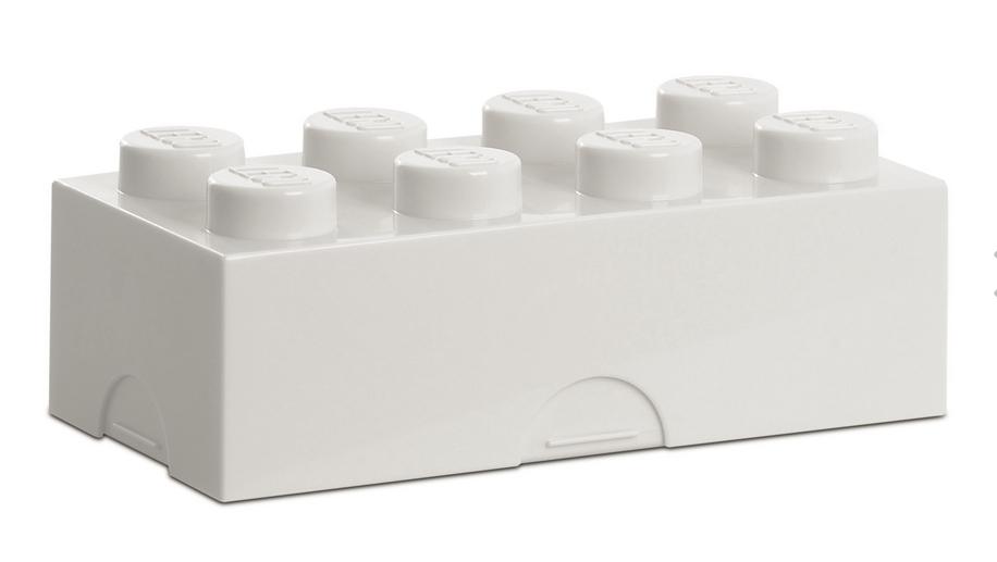 Lego Lego classic 8 white madkasse, 9 stk. på lager fra pixizoo