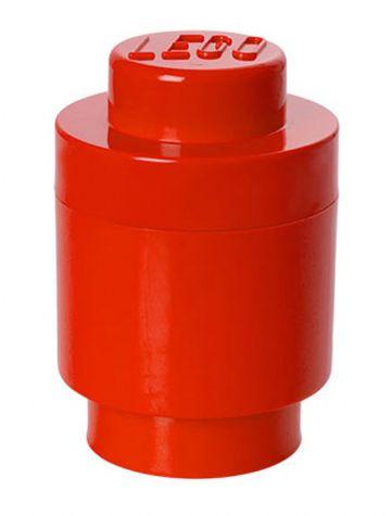 Lego Lego opbevaringsboks rund 1 - rød, +10 stk. på lager fra pixizoo
