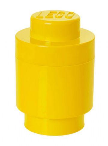 Lego opbevaringsboks rund 1 - gul, +10 stk. på lager fra Lego fra pixizoo