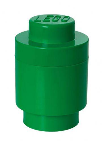 Lego – Lego opbevaringsboks rund 1 - grøn, 9 stk. på lager fra pixizoo
