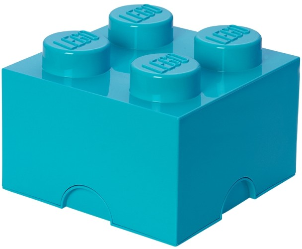 Lego – Lego opbevaringskasse 4 - azurblå, +10 stk. på lager fra pixizoo