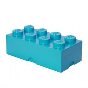 Lego – Lego opbevaringskasse 8 - azurblå, +10 stk. på lager fra pixizoo