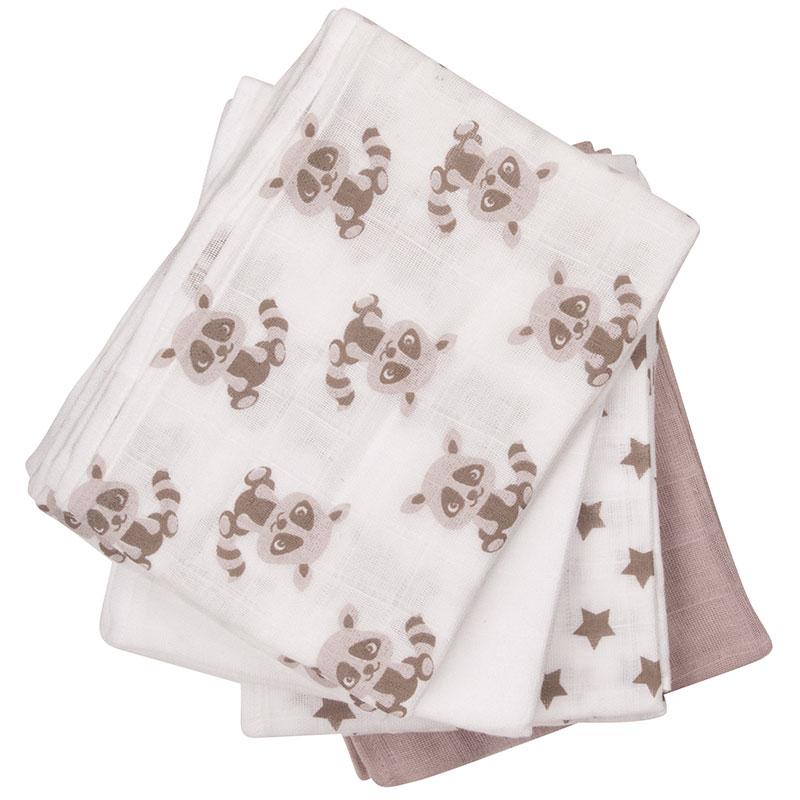 Pippi – White sand stofbleer 8-pak printet 70x70 - pippi, +10 stk. på lager på pixizoo