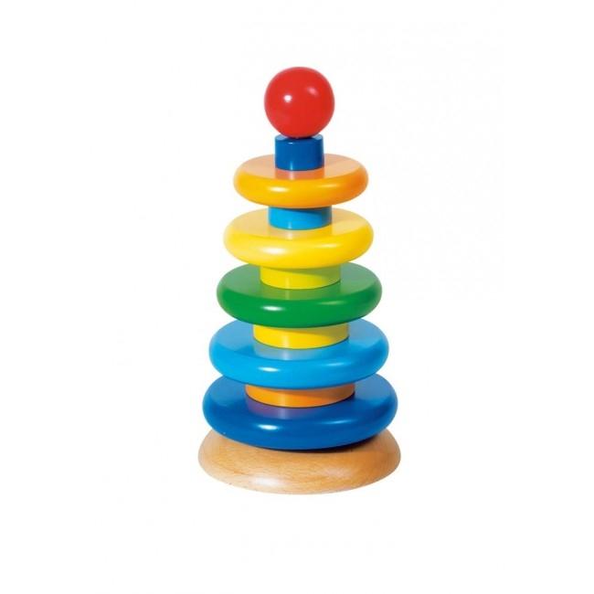 Goki Stapeltorn - Regnbågsfärgad