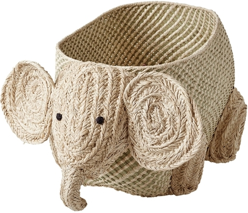Rice Elefant Flätad Förvaringskorg