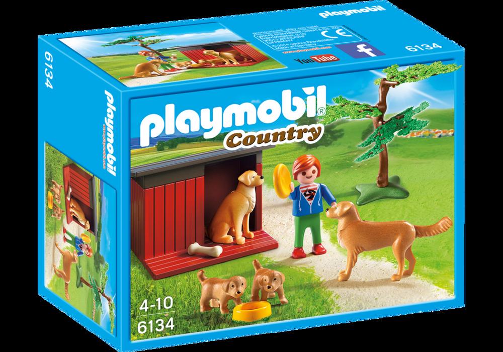 Playmobil Country (6134) Golden Retrievers med Valp