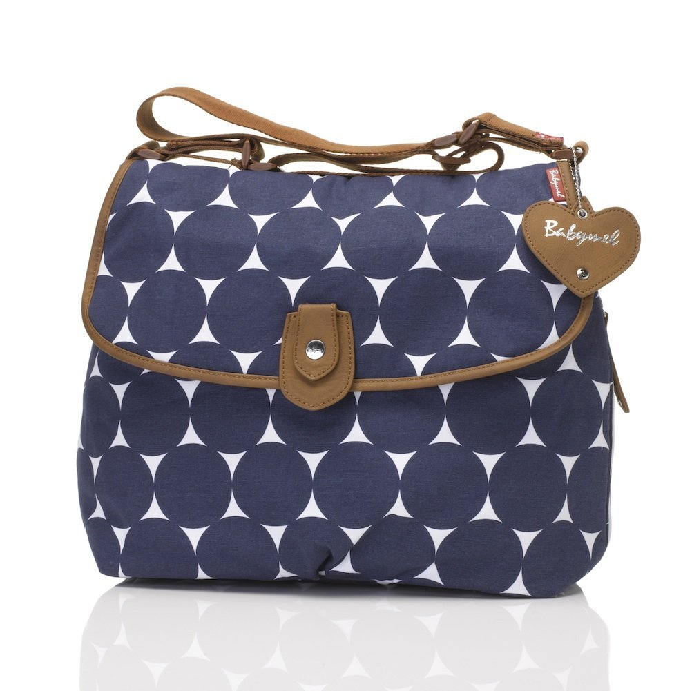 Babymel London Skötväska Satchel Jumbo - Navy Dot