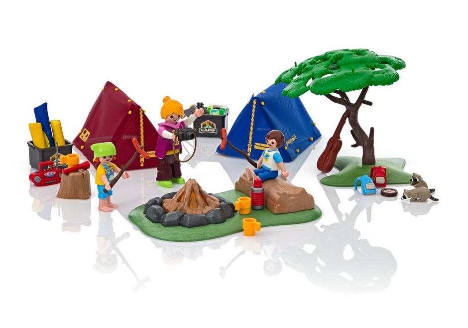 Playmobil FamilyFun (6888) Tältläger med Lägereld