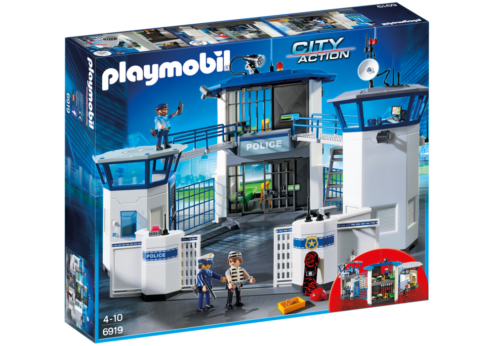Playmobil City Action (6919) Polishuvudkontor med Fängelse