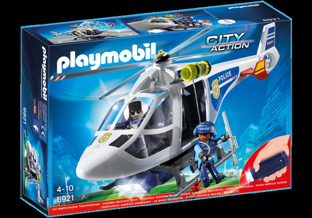 Playmobil City Action (6921) Polishelikopter med LED-sökljus
