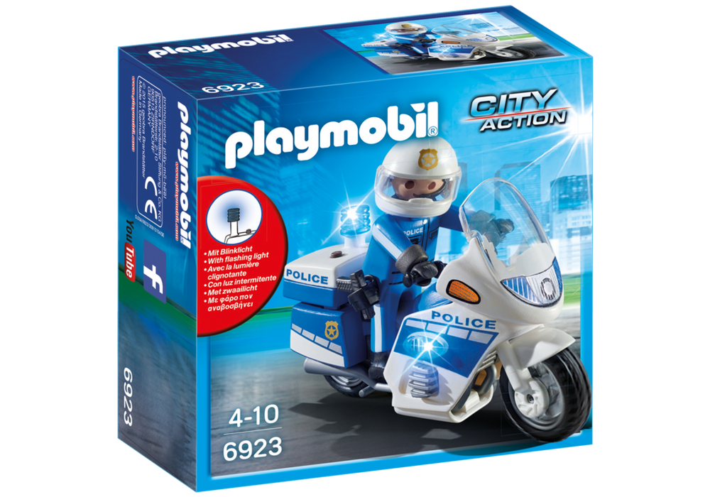 Playmobil City Action (6923) Poliscykel med LED-ljus