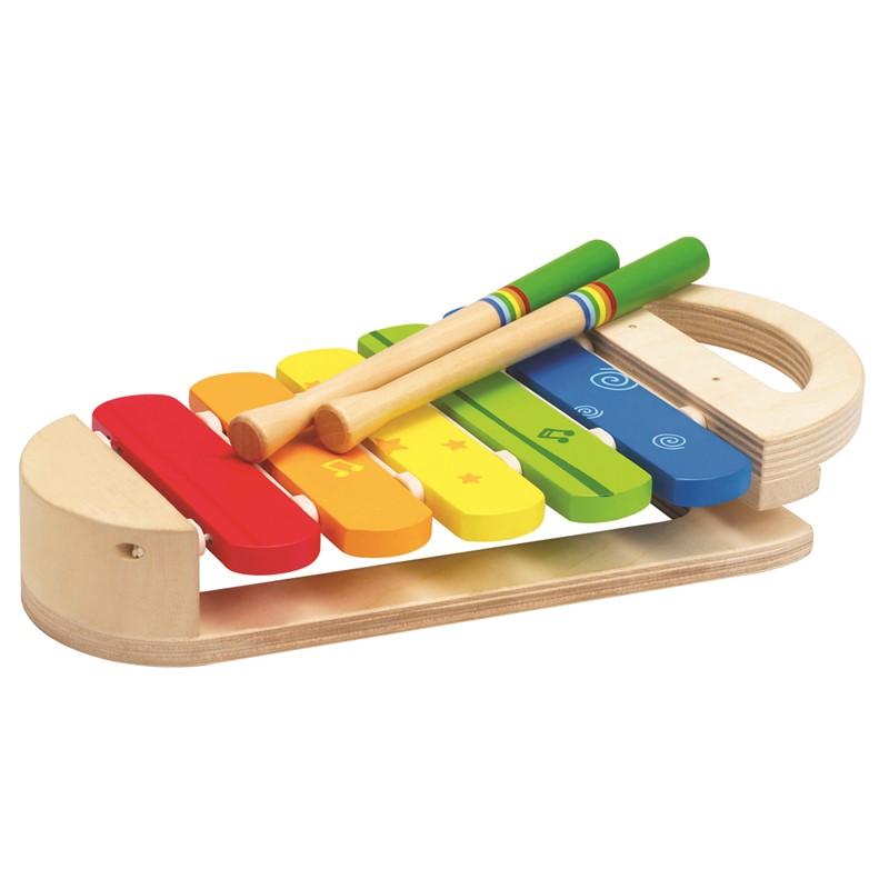 Hape – Hape rainbow xylophone musikinstrument, 6 stk. på lager på pixizoo