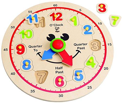 Hape Happy Hour Clock Träfigur