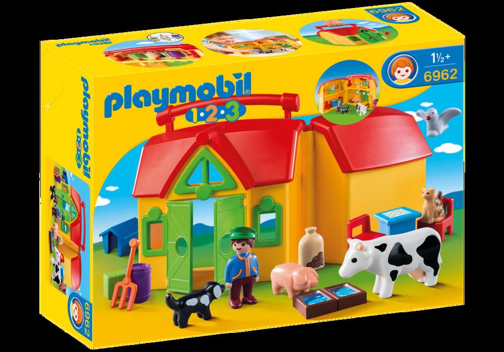 Playmobil Bondegårds kuffert (6962) - playmobil 1.2.3, 1 stk. på lager på pixizoo