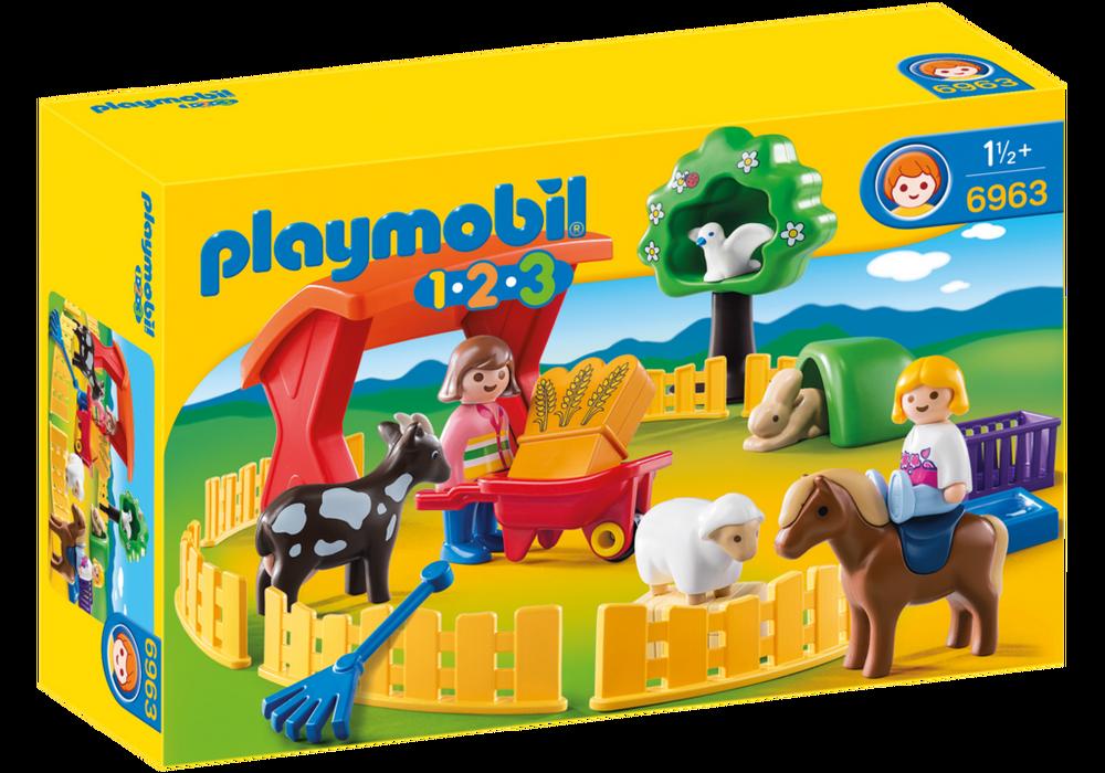 Playmobil Børnezoo (6963) - playmobil 1.2.3, 1 stk. på lager på pixizoo