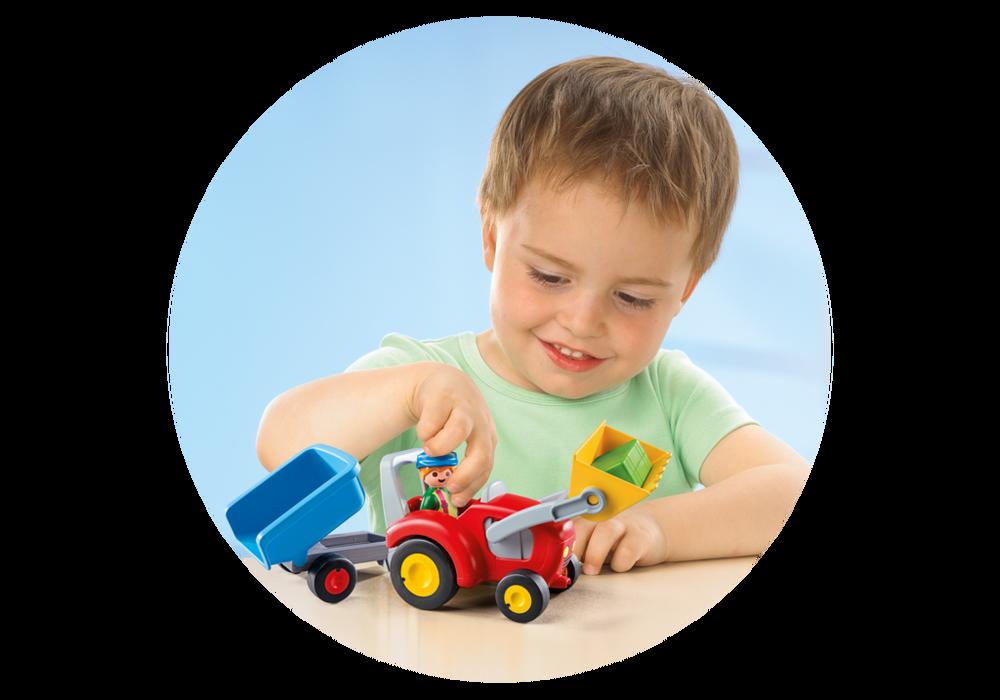 Playmobil 1.2.3 (6964) Bonde med Traktor och Släp