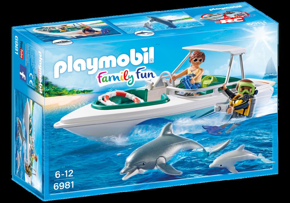 Playmobil FamilyFun (6981) Dyktur med Snabb Motorbåt