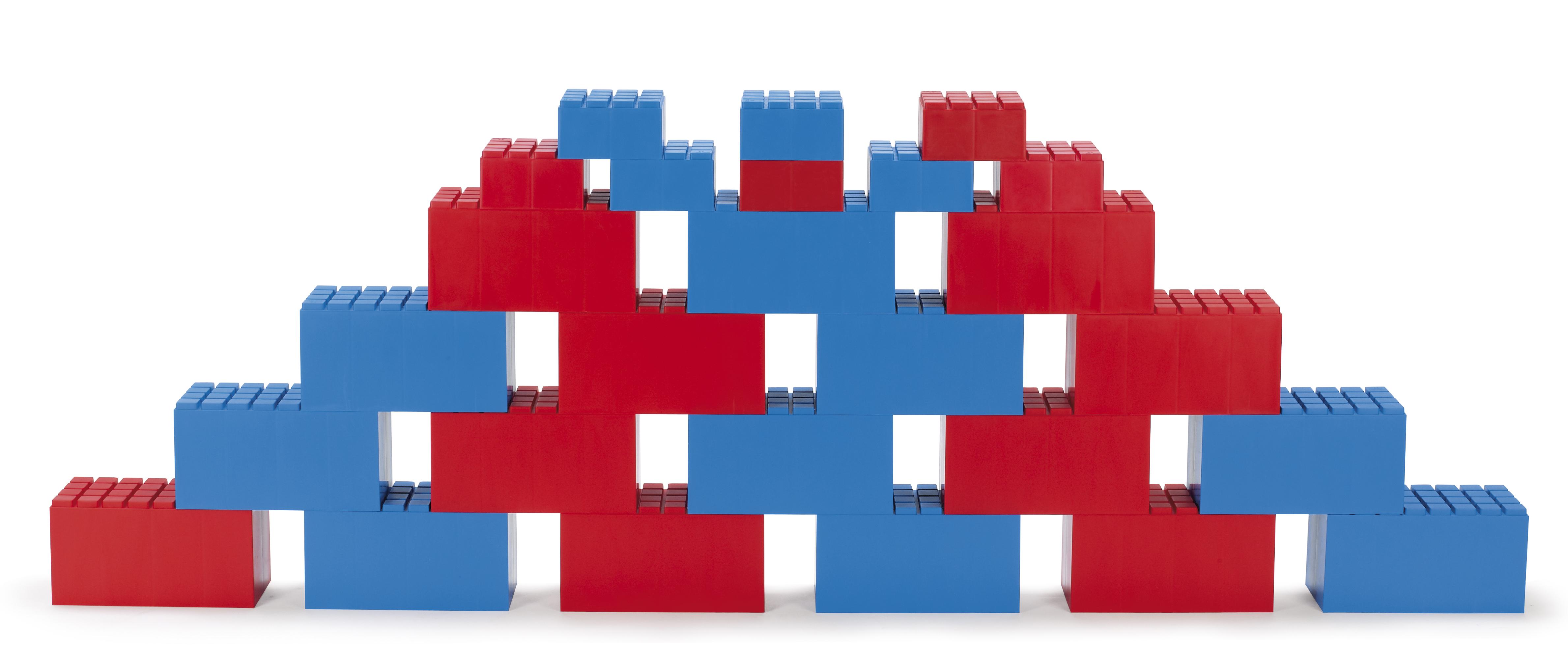 Dantoy – Dantoy byggeklodser 26 stk - rød/blå på pixizoo