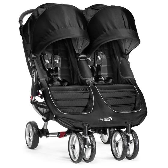 Baby jogger Baby jogger city mini dobbel - sort/grå, 10 stk. på lager på pixizoo