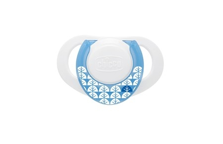 Chicco Physio Soother 0-6M Latex Napp 2 st - Blå