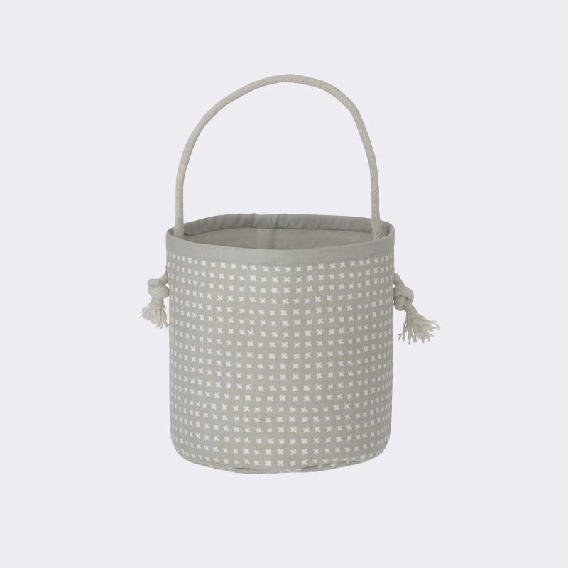 Ferm living Ferm living grey cross basket - mini , 2 stk. på lager fra pixizoo