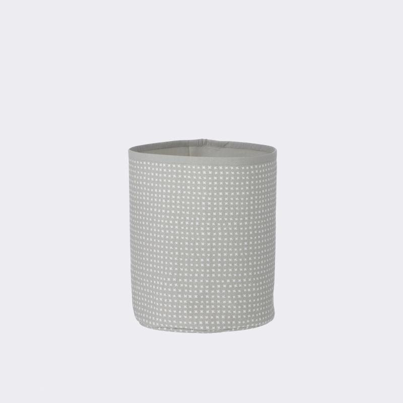 Ferm living – Ferm living grey cross basket - small , 1 stk. på lager på pixizoo