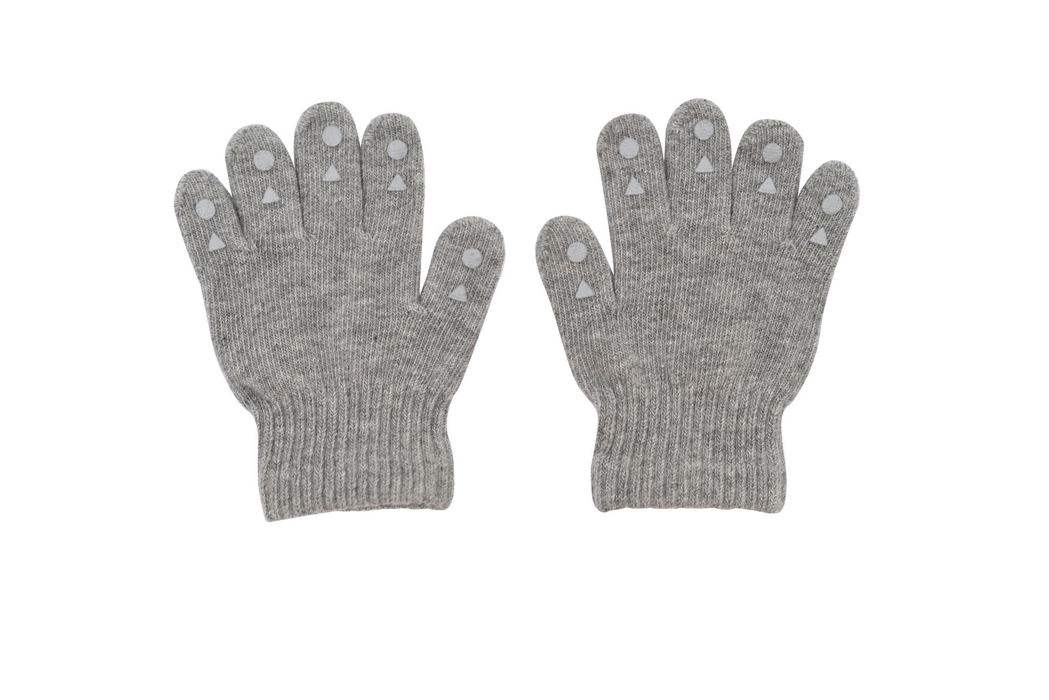 GoBabyGo Grip Gloves Fingervantar 2-3 år - Grey Melange